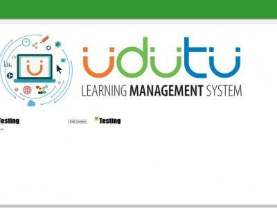 Screenshot of Udutu LMS