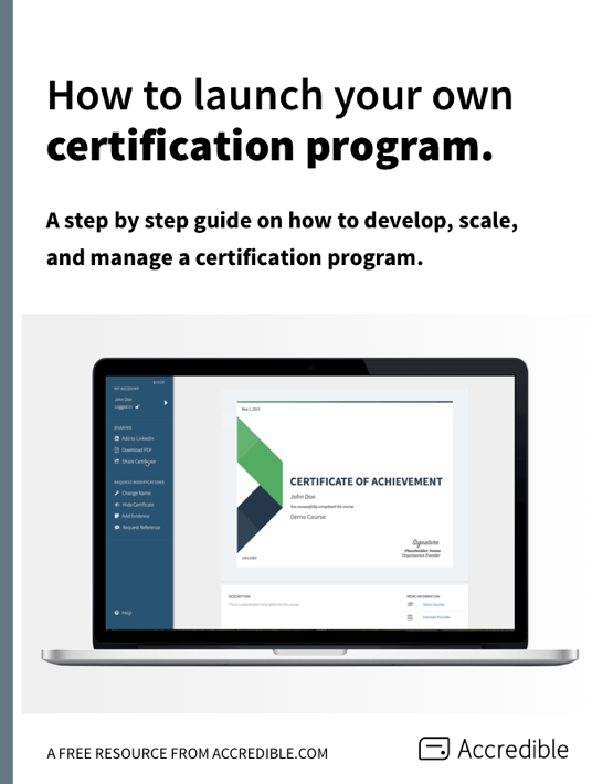 Free Ebook: Free eBook - How To Launch Your Own Certification Program