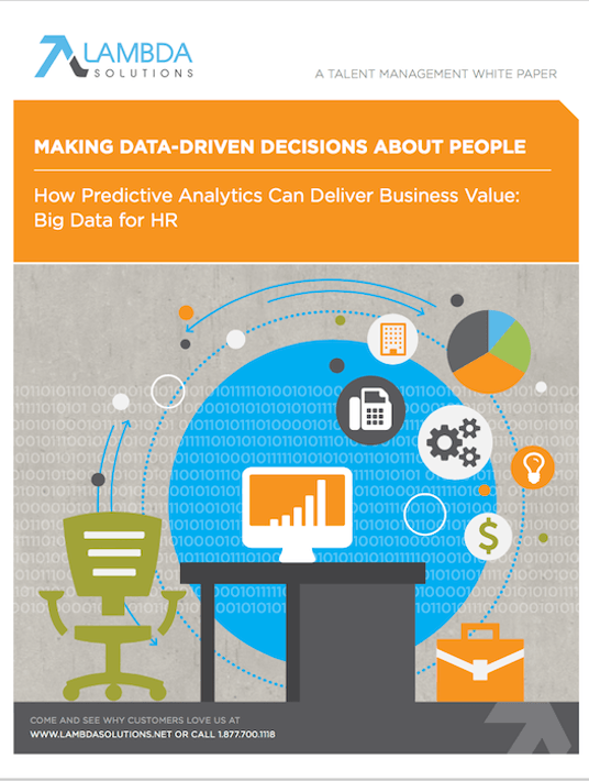 Free Ebook: Big Data For HR: How Predictive Analytics Can Deliver Business Value