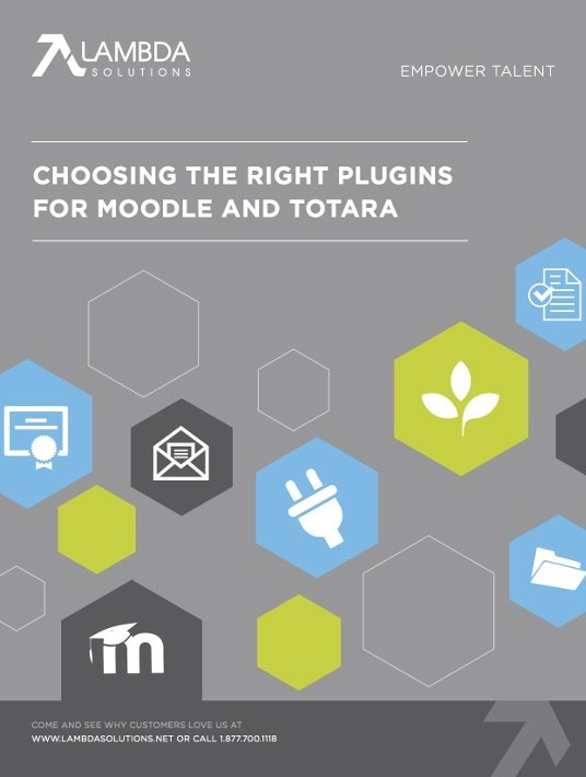 Free Ebook: Free eBook - Choosing The Right Plugins For Moodle And Totara