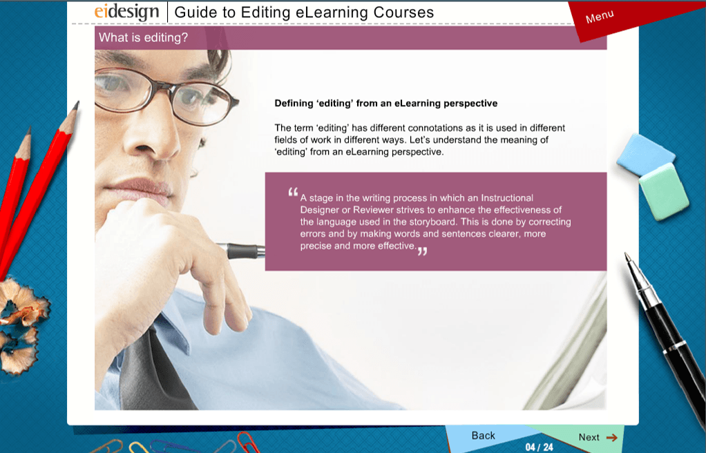 traditional page turner eLearning course - Sample-1