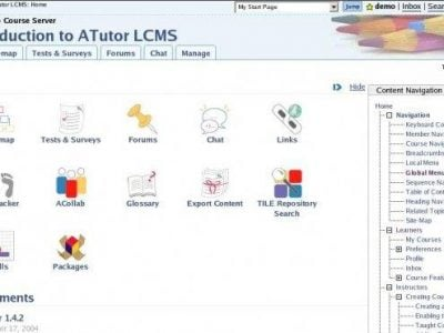 Screenshot of ATutor