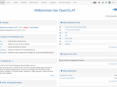 Screenshot of OpenOLAT