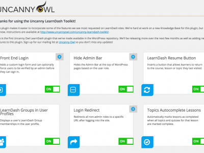Screenshot of Learndash