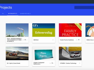 Screenshot of MyEcontentFactory
