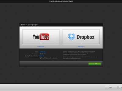 Screenshot of Adobe Presenter Video Express