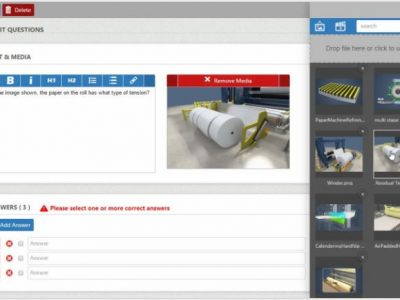 Screenshot of Industrial & Manufacturing LMS