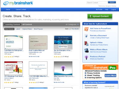 Screenshot of Brainshark