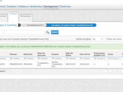 Screenshot of TalentSoft