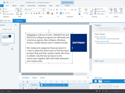 Screenshot of Articulate Studio