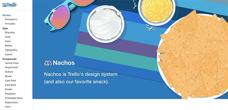 A screenshot of Trello's Design System homepage