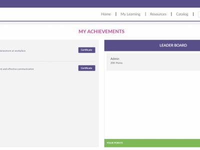 Screenshot of Effectus LMS