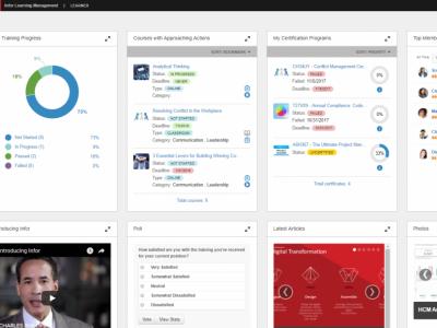 Screenshot of Infor LMS