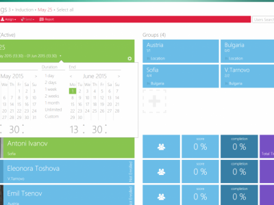 Screenshot of MelonLearning LMS