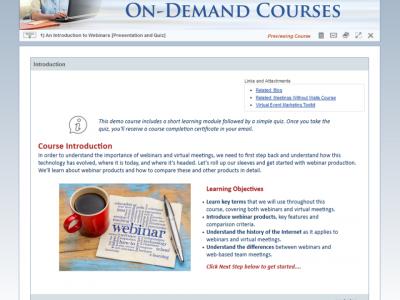 Screenshot of Classroom LMS