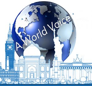 A World Voice logo