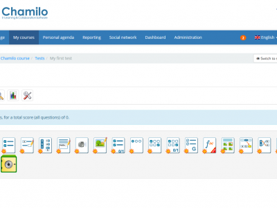 Screenshot of Chamilo