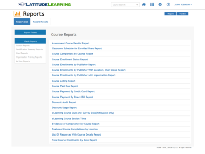 Screenshot of LatitudeLearning