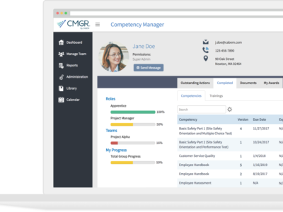 Screenshot of Competency Manager