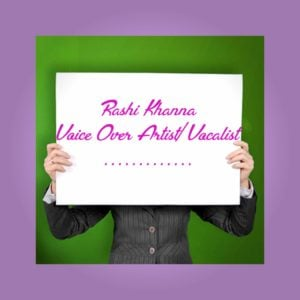 Rashi Khanna Voiceover logo