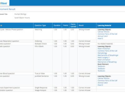 Screenshot of EduWave