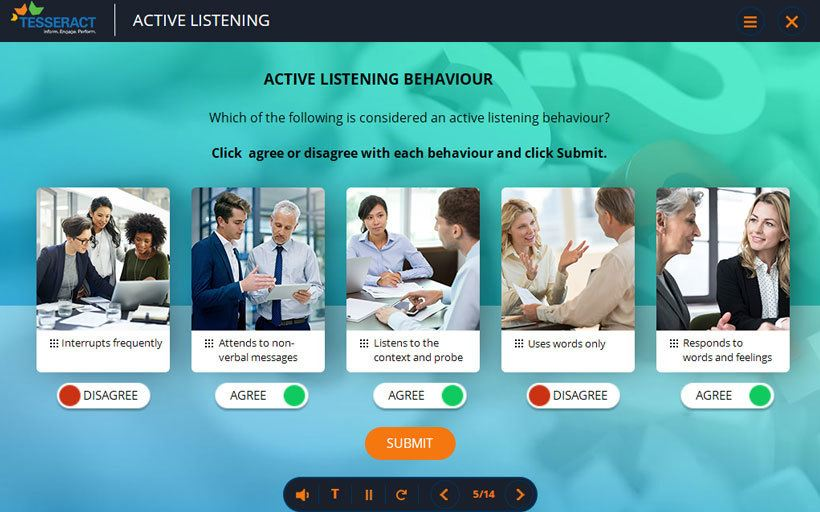 Using effective Q&A model to create an engaging custom eLearning courses with mini-cases