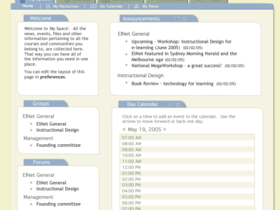 Screenshot of .LRN
