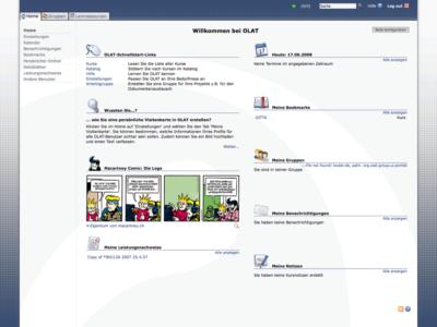 Screenshot of OLAT