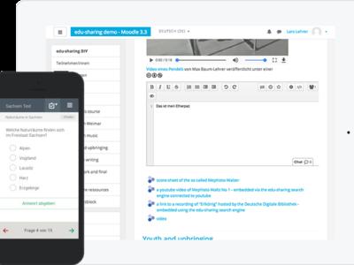Screenshot of Edu-Sharing