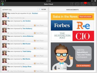 Screenshot of Saba Cloud