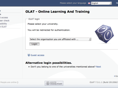 Screenshot of OLAT