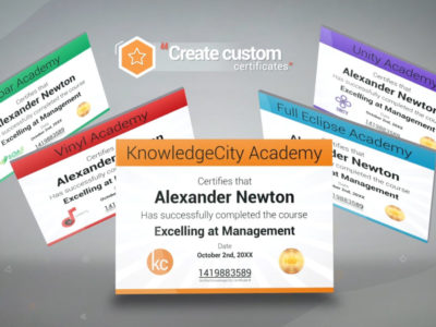 Screenshot of KnowledgeCity LMS