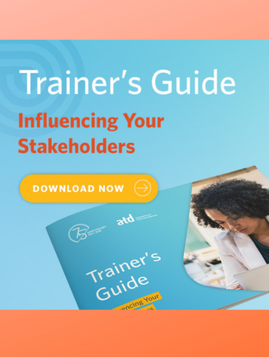 Trainer's Guide - Influencing Your Stakeholders