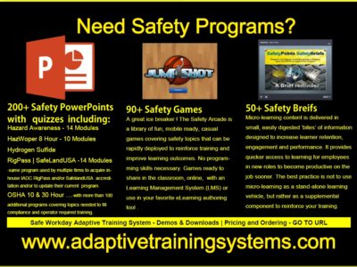 Screenshot of Adaptive Training Content