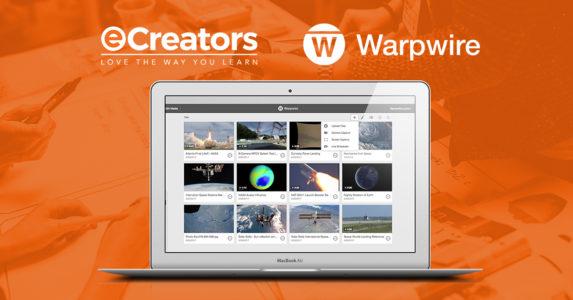 eCreators Partners With Warpwire Video Platform