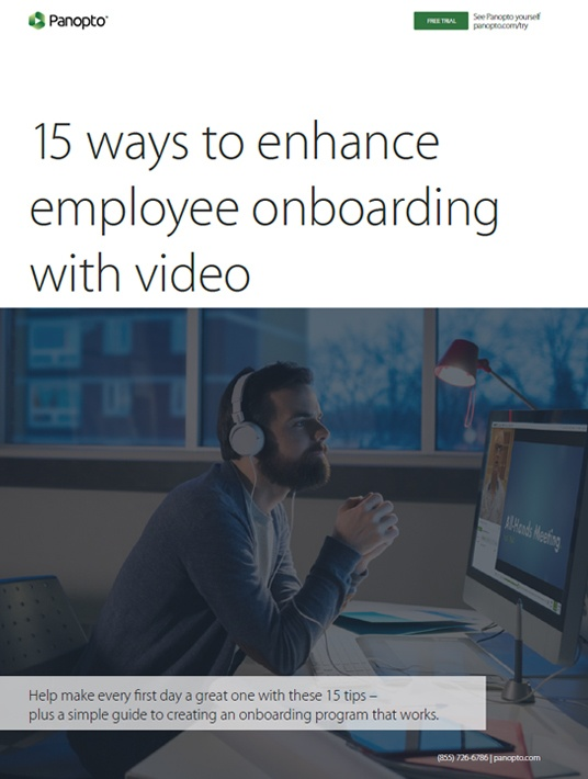 Free Ebook: 15 Ways To Enhance Employee Onboarding With Video