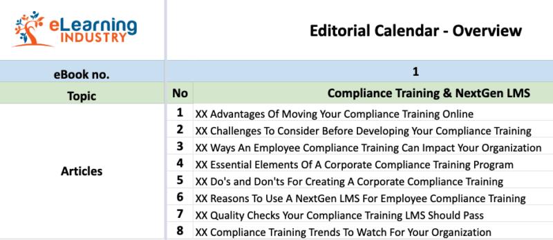 premium content strategy - Editorial Calendar Sample