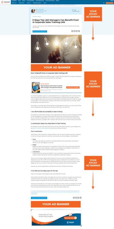 eLearning Industry - RoS Banner Ads - Sample