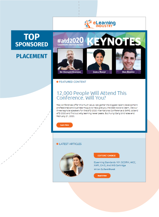 eLearning Industry - Weekly Newsletter - Top Sponsored-Placement