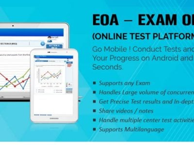 Screenshot of EOA - Online Test Platform