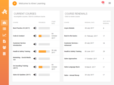 Screenshot of Alver Learning