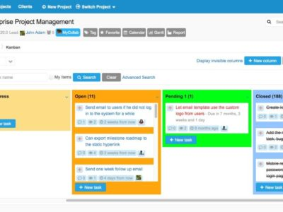 Screenshot of MyCollab
