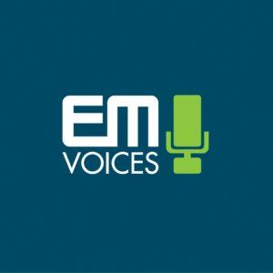 EM VOICES logo