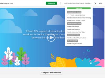 Screenshot of TalentLMS