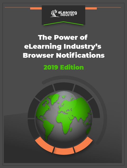[Infographic] The Power of eLearning Industry's Browser Notifications 2019 - Cover Page