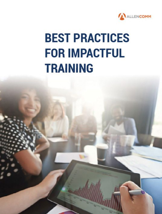Free Ebook: Best Practices For Impactful Training