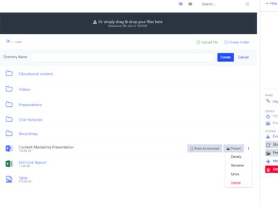 Screenshot of LiveWebinar
