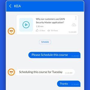 Screenshot of KEA