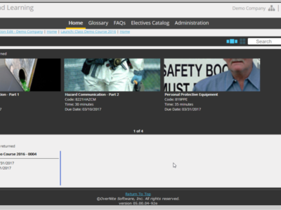 Screenshot of ExxTend Learning