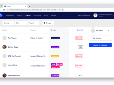 Screenshot of Innform